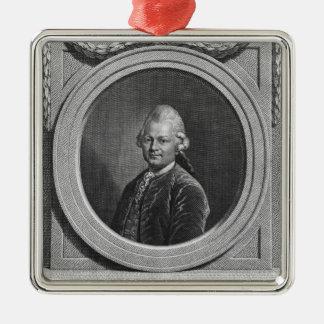 Portrait of Gotthold Ephraim Lessing Christmas Ornament