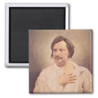 Portrait of Honore de Balzac Square Magnet