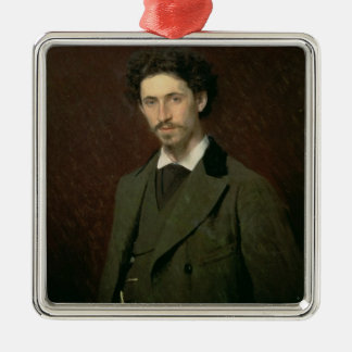 Portrait of Ilya Efimovich Repin, 1876 Christmas Ornament