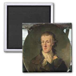 Portrait of Jacques Pierre Brissot Fridge Magnets