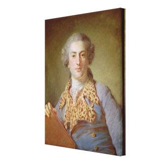 Portrait of Jean-Georges Noverre , 1764 Canvas Print