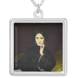 Portrait of Jeanne de Tourbay  1862 Silver Plated Necklace