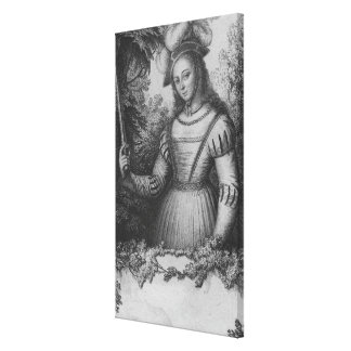 Portrait of Joan of Arc Canvas Print