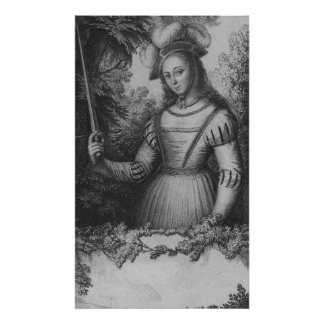 Portrait of Joan of Arc Poster