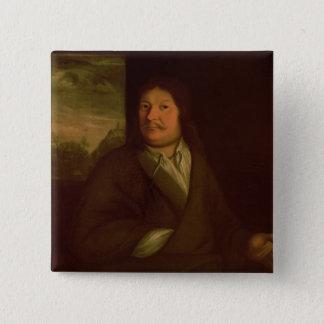Portrait of Johann Ambrosius Bach , 1685 15 Cm Square Badge