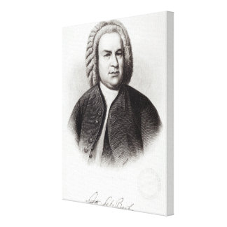 Portrait of Johann Sebastian Bach Canvas Print