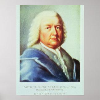 Portrait of Johann Sebastian Bach Poster