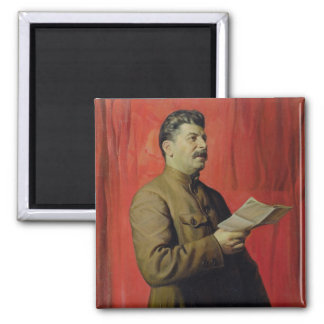 Portrait of Josif Stalin, 1933 Square Magnet