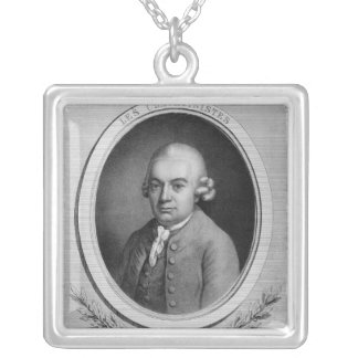 Portrait of Karl Philipp Emmanuel Bach Silver Plated Necklace
