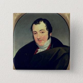 Portrait of Karl Thomas Mozart 15 Cm Square Badge