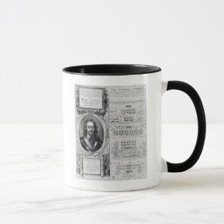Portrait of King Charles I with diagrams Mug