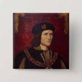 Portrait of King Richard III 15 Cm Square Badge