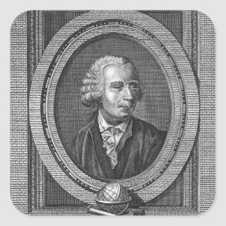 Portrait of Leonard Euler Square Sticker