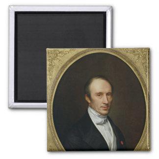 Portrait of Louis Cauchy Square Magnet