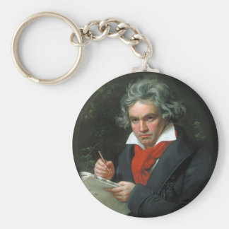 Portrait of Ludwig von Beethoven Key Ring
