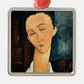 Portrait of Lunia Czechowska, 1918 Silver-Colored Square Decoration