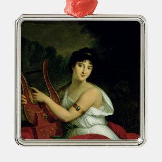 Portrait of Madame de la Pleigne Christmas Ornament
