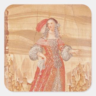 Portrait of Madeleine Bejart  in role of Square Sticker