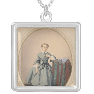 Portrait of Madeleine de Malaret Silver Plated Necklace