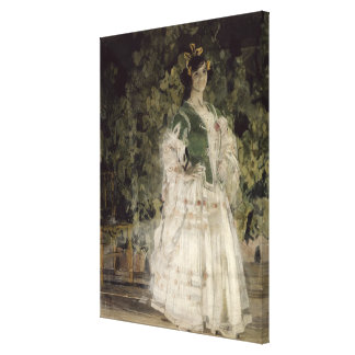 Portrait of Maria Kusnetso va-Benois as Carmen Canvas Print