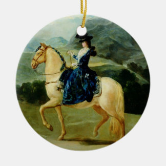 Portrait of Maria Teresa de Vallabriga on horsebac Christmas Ornament