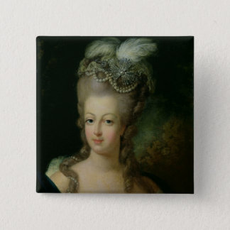 Portrait of Marie-Antoinette 15 Cm Square Badge