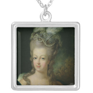 Portrait of Marie-Antoinette Silver Plated Necklace