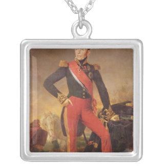 Portrait of Marquis Emmanuel de Grouchy Silver Plated Necklace