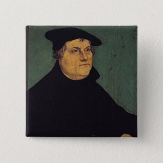 Portrait of Martin Luther  1543 15 Cm Square Badge