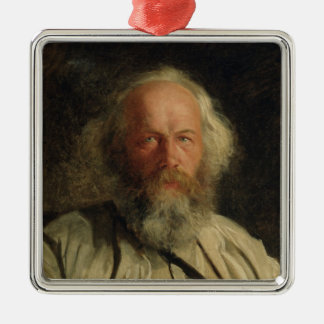 Portrait of Mikhail Alexandrovich Bakunin  1871 Christmas Ornament