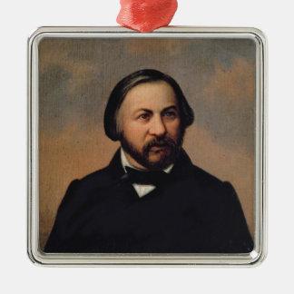Portrait of Mikhail Ivanovich Glinka , 1850s Christmas Ornament