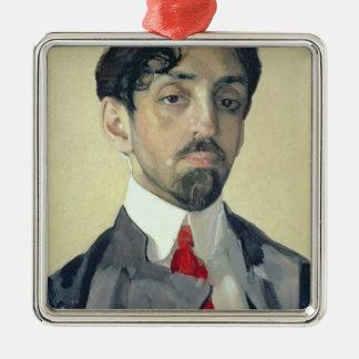 Portrait of Mikhail Kuzmin , 1909 Christmas Ornament