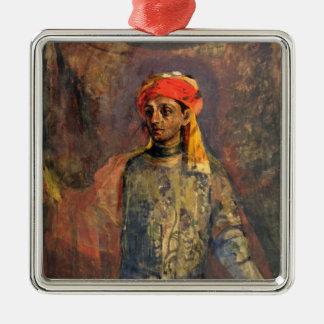 Portrait of Mikhail Kuzmin, 1911-12 Christmas Ornament