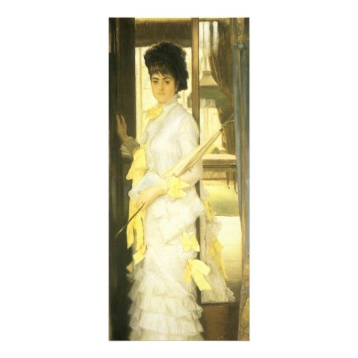 Portrait of Miss Lloyd by Tissot, Victorian Art Custom Invitations