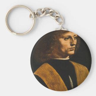 portrait of Musician Key Ring