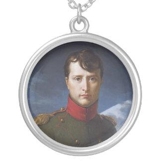 Portrait of Napoleon Bonaparte First Consul Silver Plated Necklace