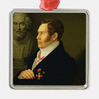 Portrait of Nikolay Gnedich, 1839 Christmas Ornament