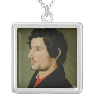 Portrait of Otto Sigismund Runge Silver Plated Necklace