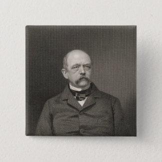 Portrait of Otto von Bismarck 15 Cm Square Badge