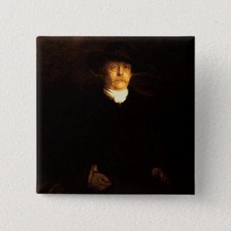 Portrait of Otto Von Bismarck (1815-98) (oil on pa 15 Cm Square Badge
