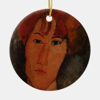 Portrait of Pardy, c.1915 (oil on canvas) Round Ceramic Decoration