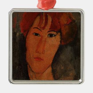 Portrait of Pardy, c.1915 (oil on canvas) Silver-Colored Square Decoration