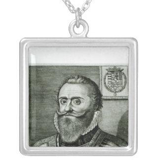 Portrait of Philippe-Emmanuel de Lorraine Silver Plated Necklace