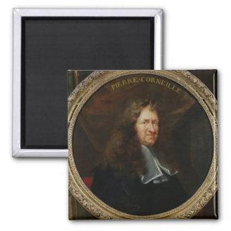 Portrait of Pierre Corneille Square Magnet
