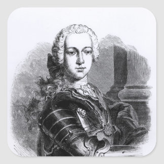 Portrait of Prince Charles Edward Stuart Square Sticker