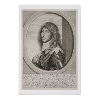 Portrait of Prince Rupert (1619-82) Count Palatine Poster