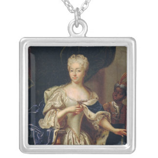 Portrait of Princess Silver Plated Necklace