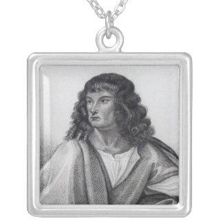 Portrait of Robert Spencer 2nd Earl Sunderland Silver Plated Necklace