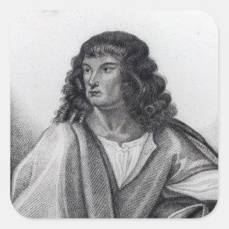 Portrait of Robert Spencer 2nd Earl Sunderland Square Sticker