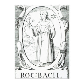 Portrait of Roger Bacon Canvas Print